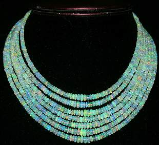 340Crt Natural Ethiopian Welo Fire Opal Beads Necklace