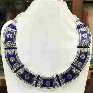 Antique Tibetan Lapis Chokar Necklace