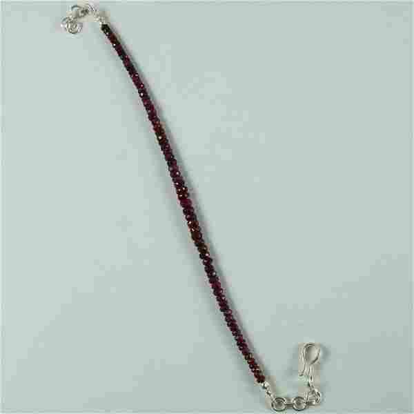 Natural Ruby 92.5 Sterling Silver Bracelet