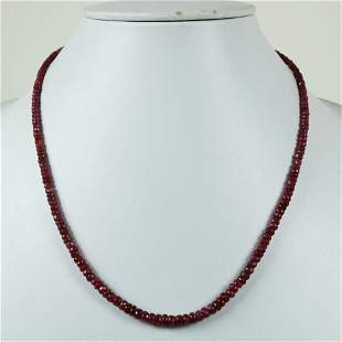 Natural Ruby 92.5 Sterling Silver Necklace