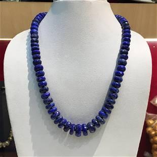 Faceted Lapis Lajuli Handmade Necklace