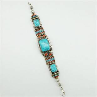 Ethnic Antique Choker Lapis Handmade Bracelet