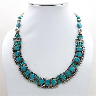 Tibetan Turquoise Beaded Chokar Necklace
