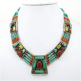 Buddhist Vintage Tibetan Nepali Ethnic Necklace