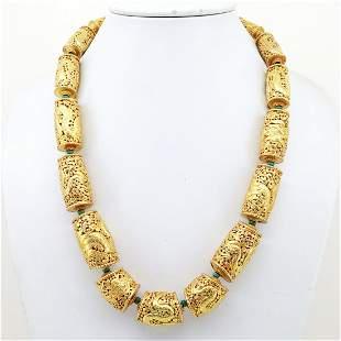 Banjara Metal Hand Carving Designer Metal Necklace