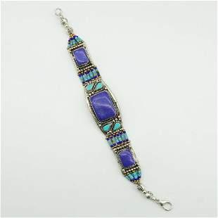 New Arrival - Turquoise & Lapis Ethnic Bracelet