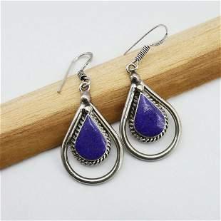 New Arrival - Natural Lapis Handmade Earrings