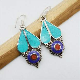 New Arrival - Natural Turquoise Handmade Earrings