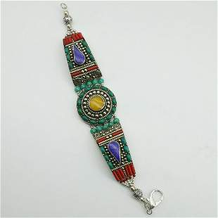 New Arrival - Turquoise & Amber Ethnic Bracelet