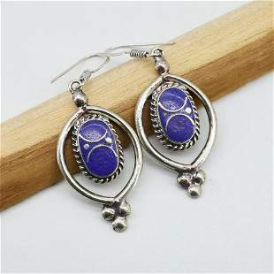 One Of A Kind - Natural Lapis Handmade Earing