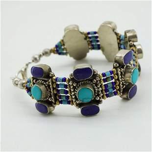 New Arrival - Turquoise & Lapis Handmade Bracelet