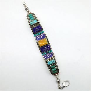 Gypsy Ethnic Turquoise Choker Handmade Bracelet