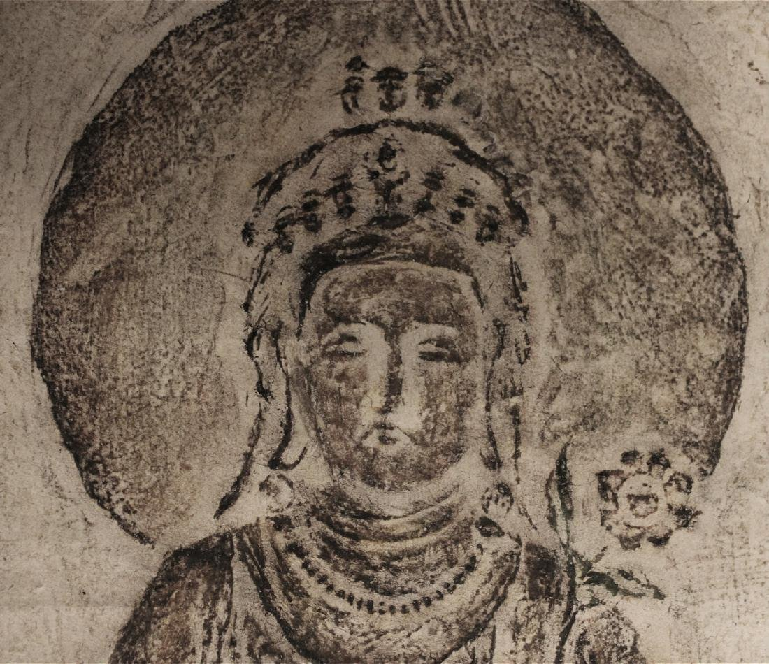chinese rare ink rubbing of guanyin - 2