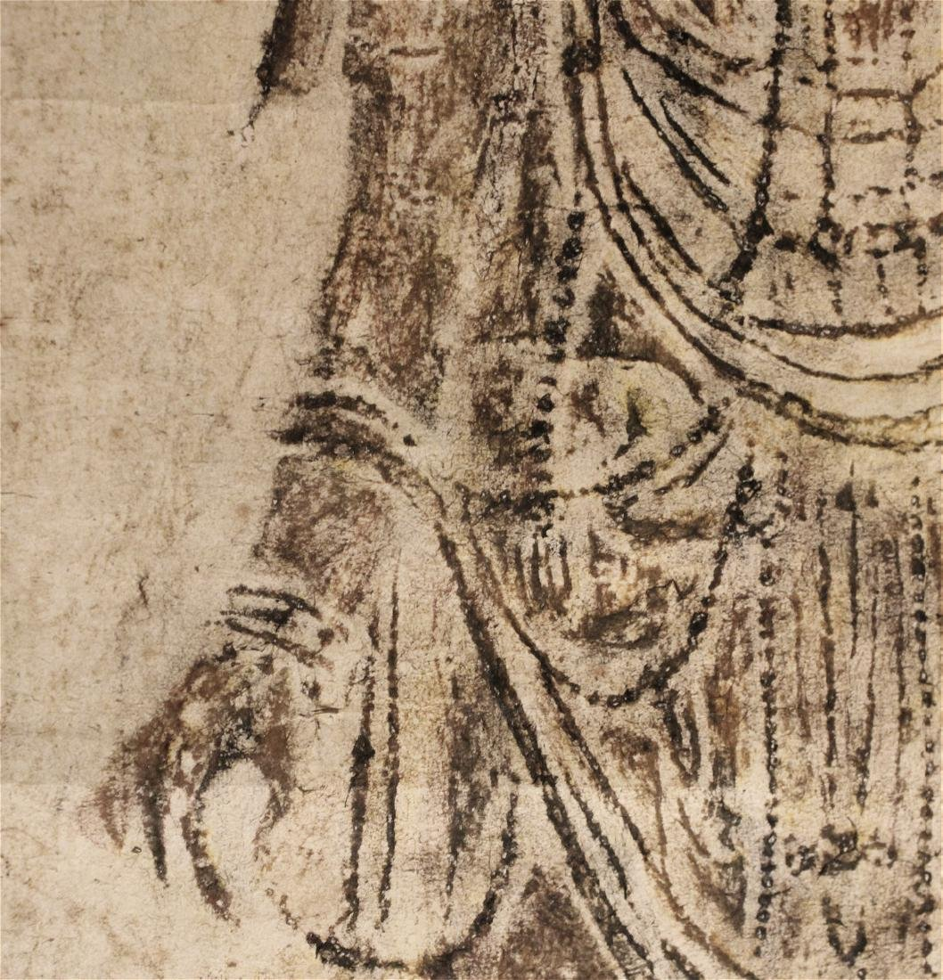 chinese rare ink rubbing of guanyin - 3