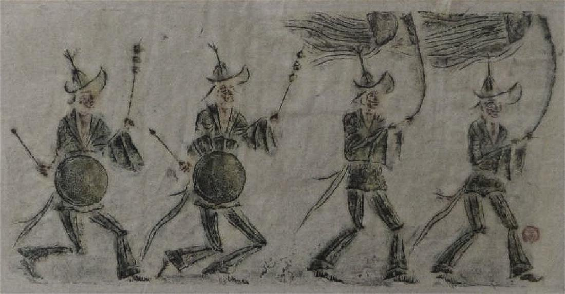 chinese rare ink rubbing of figures