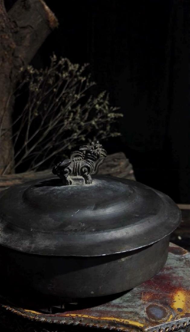 chinese pewter incense burner