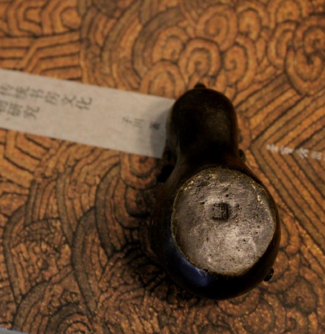 chinese bronze scholar water dropper - 4