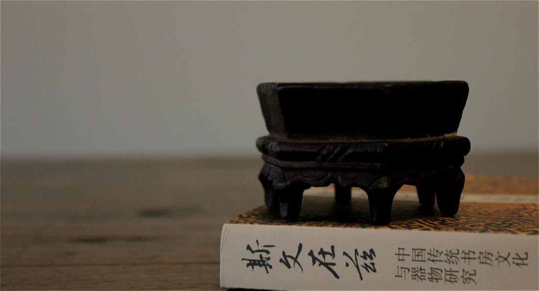 rare chinese ming dynasty wood incense burner