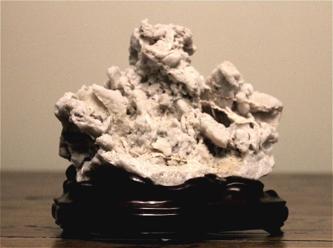 chinese white scholar stone boulder