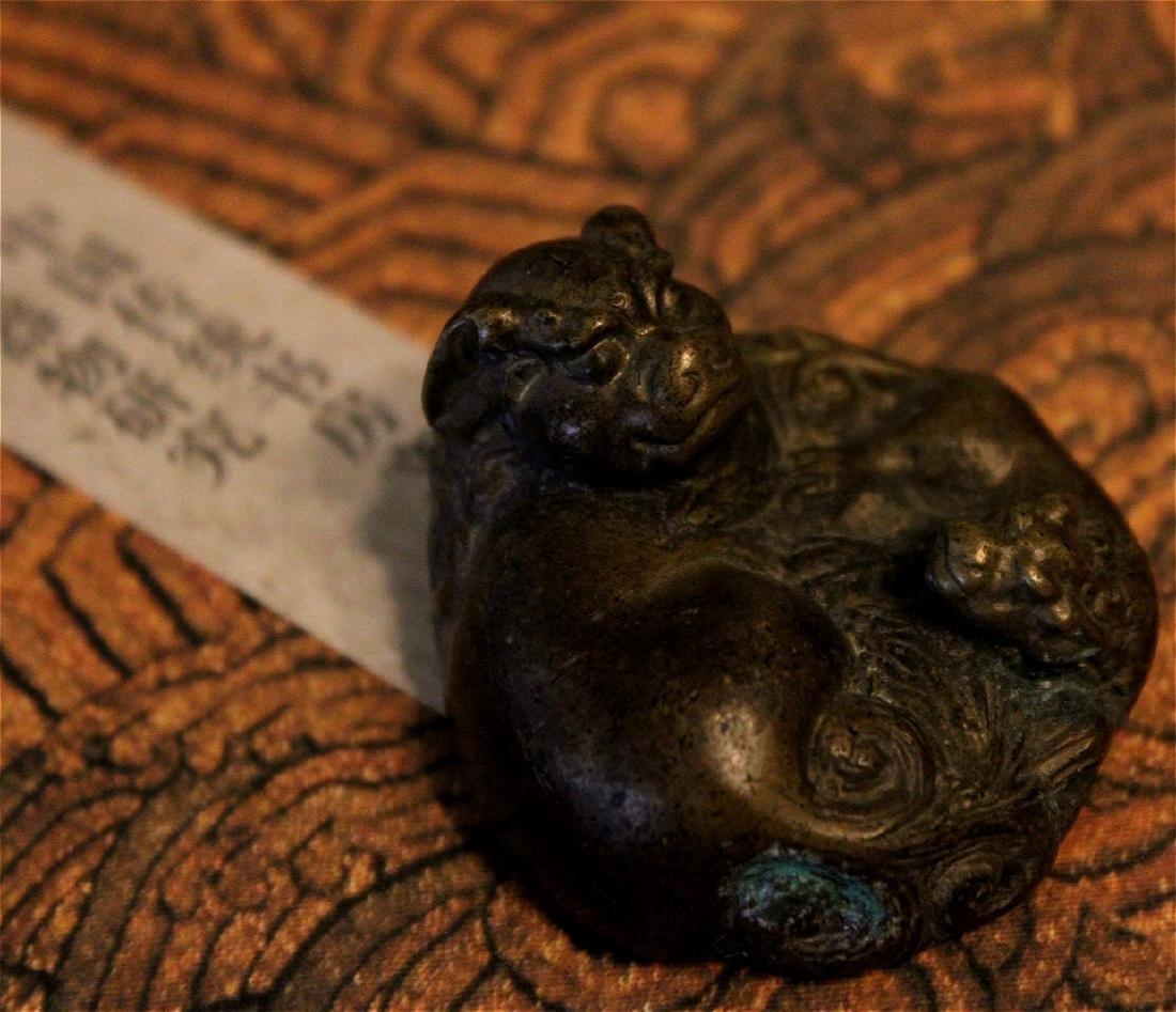 chinese fine bronze scholar weight
