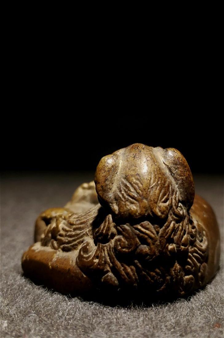chinese fine bronze scholar weight - 6