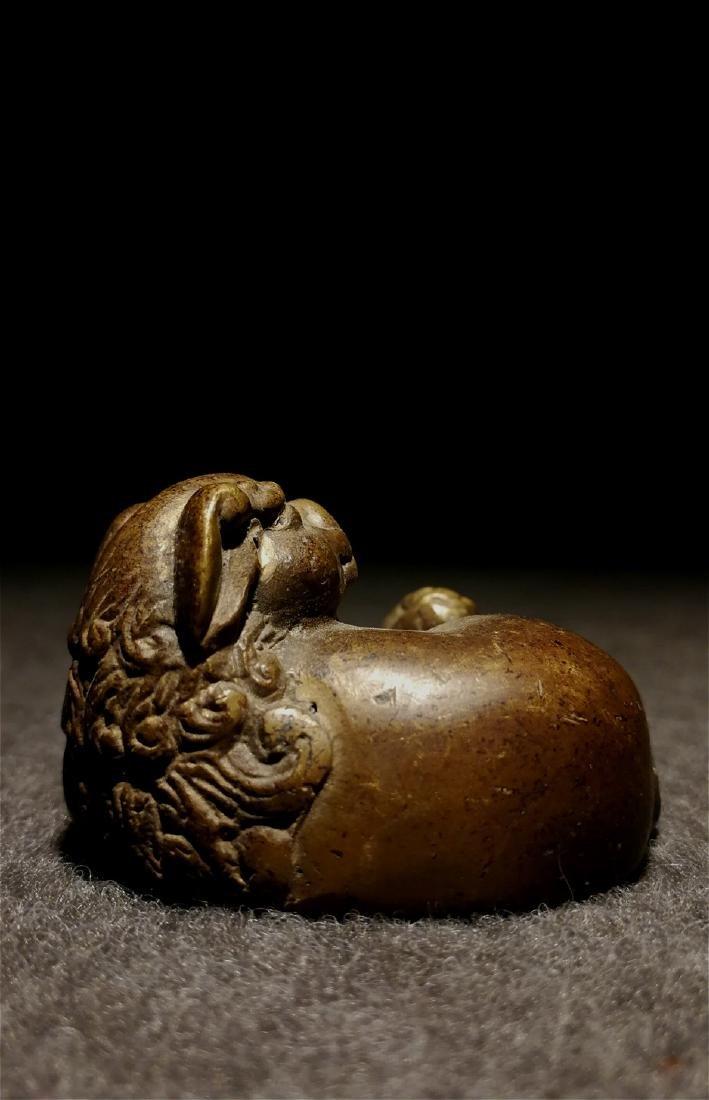 chinese fine bronze scholar weight - 7
