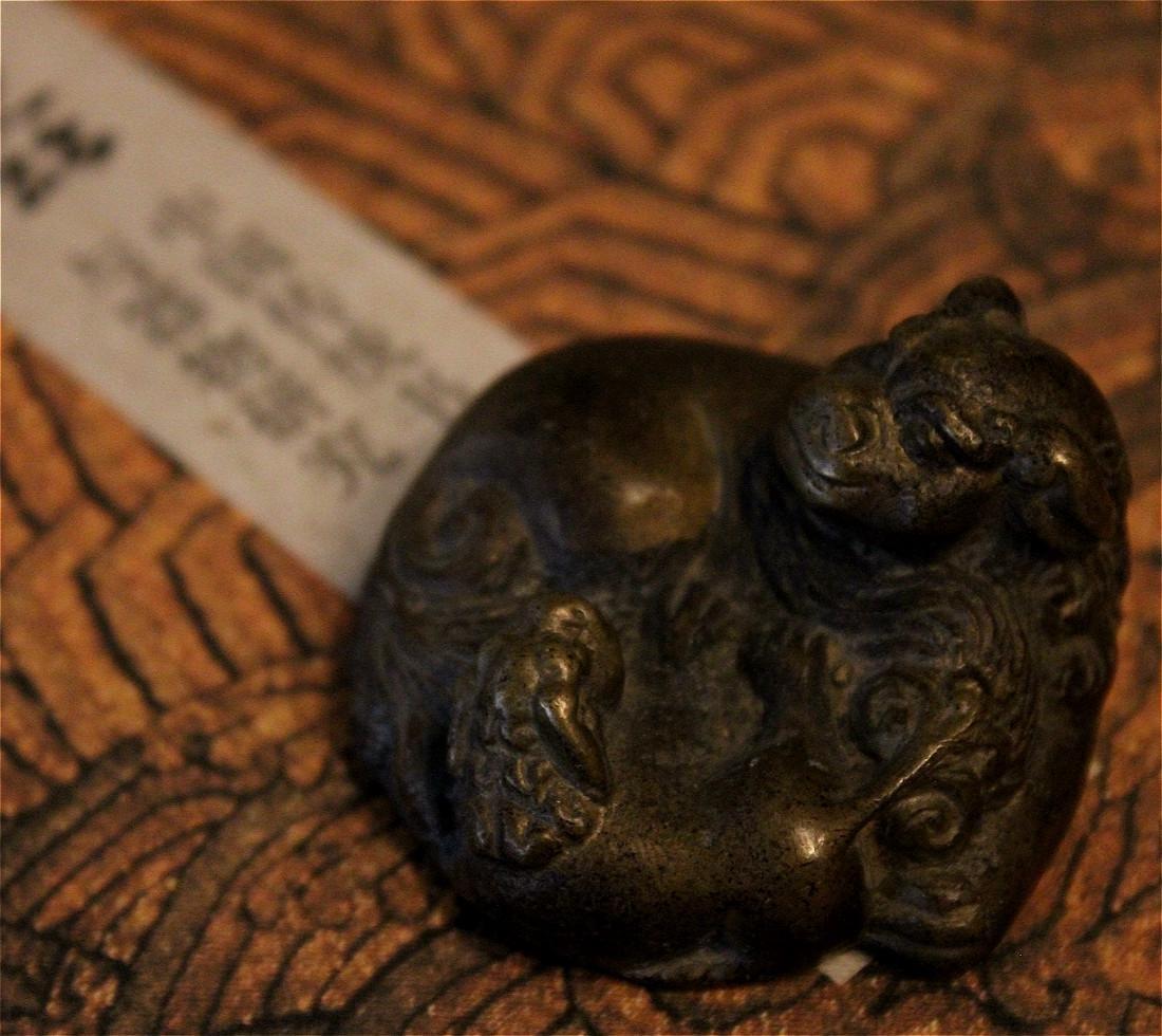 chinese fine bronze scholar weight - 9
