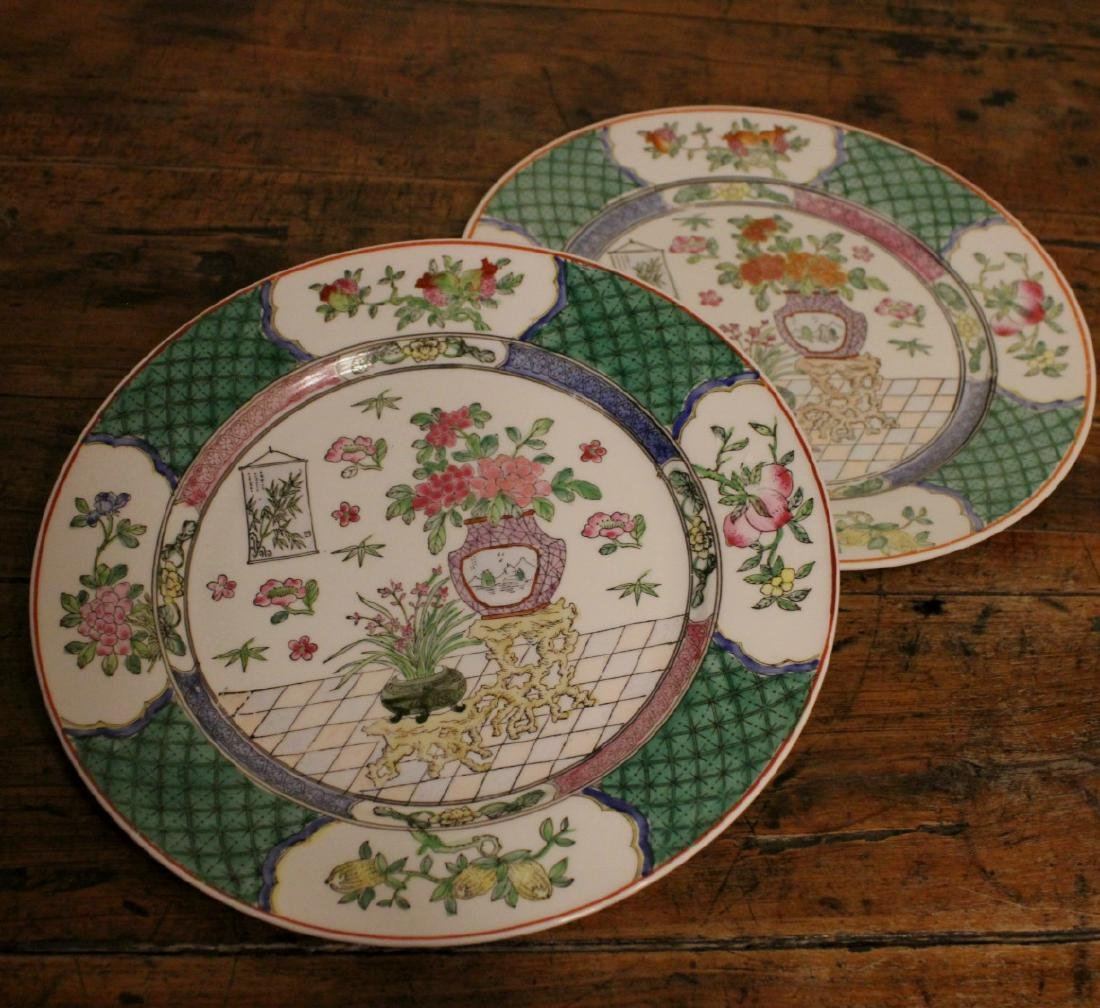 chinese pair of porcelain dishes