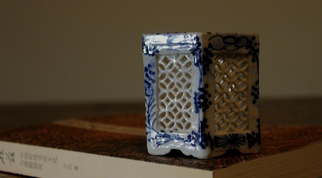 chinese carved porcelain incense burner