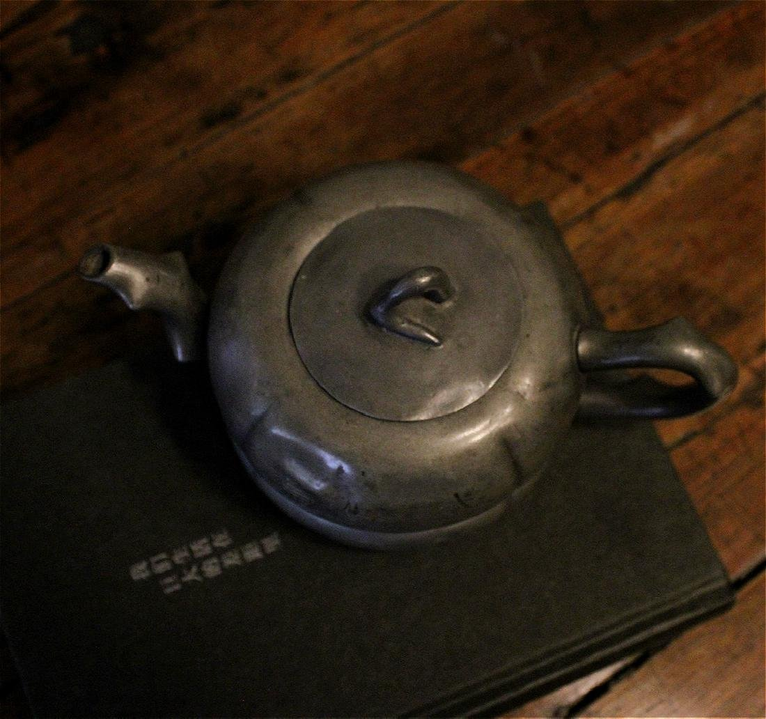 chinese antique pewter teapot - 3