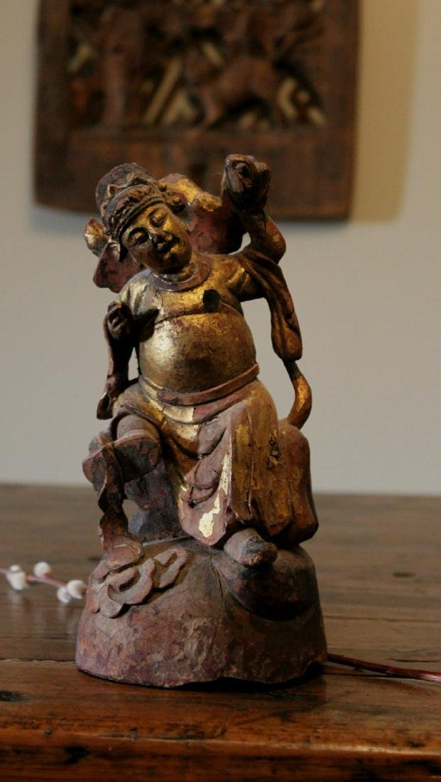 chinese wood lacquered figure