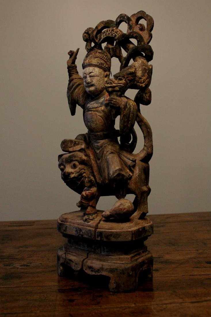 chinese wood carved and lacquered figure - 5