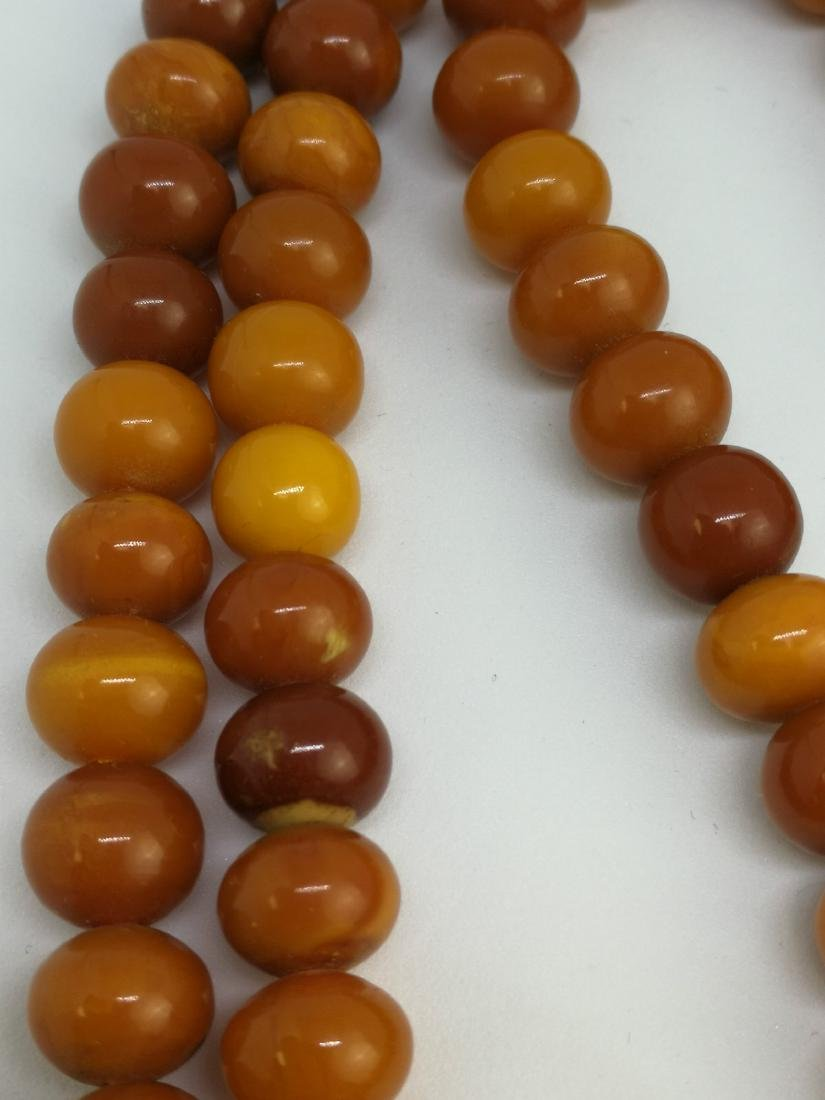 amber beaded necklace - 3