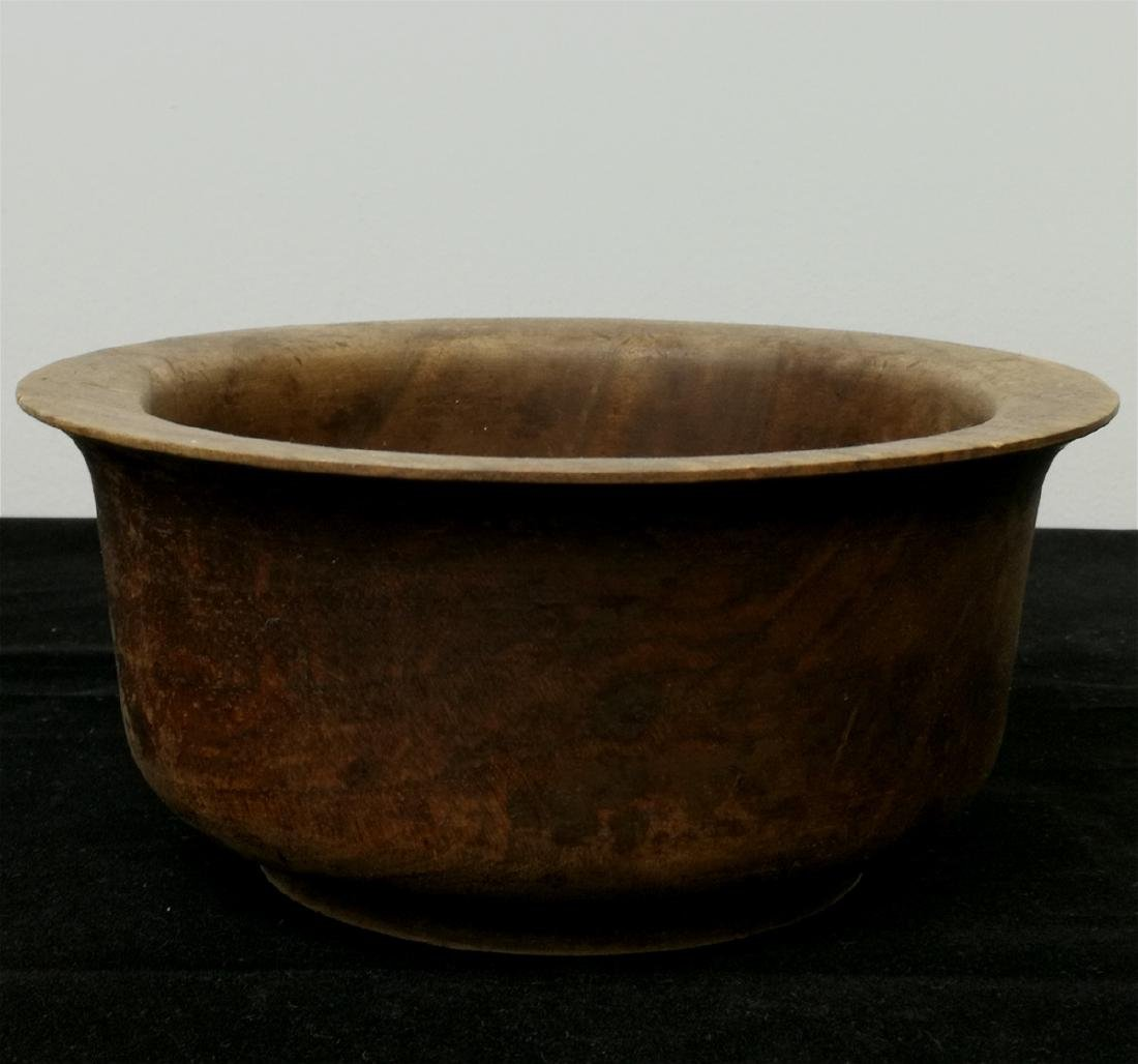 wood carved bowl
