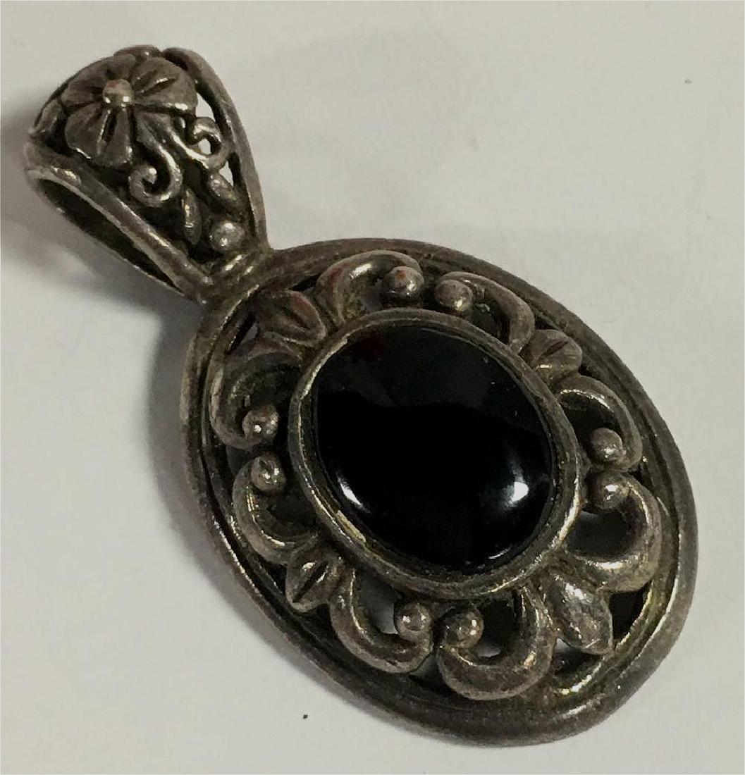 Sterling Silver & Black Onyx Pendant
