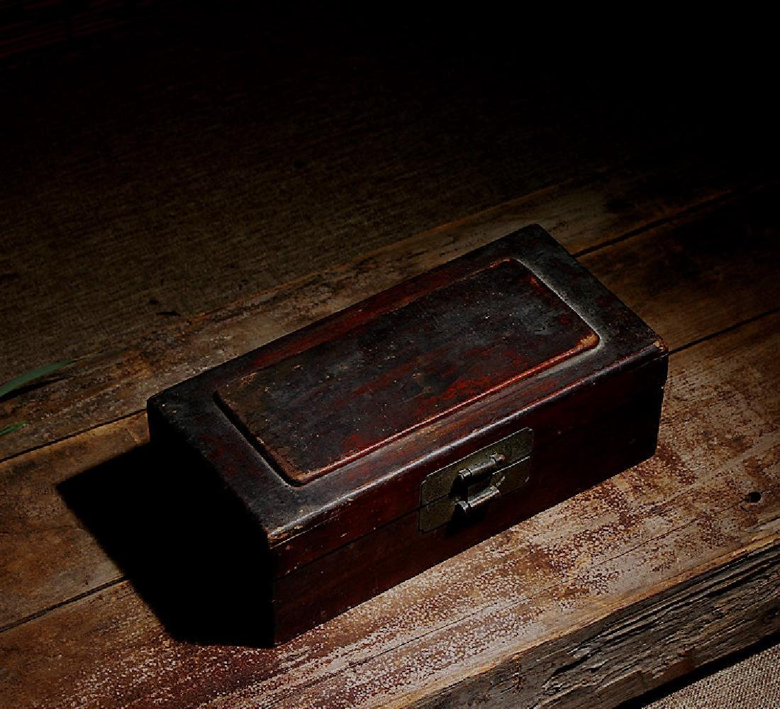 chinese wood lacquered box