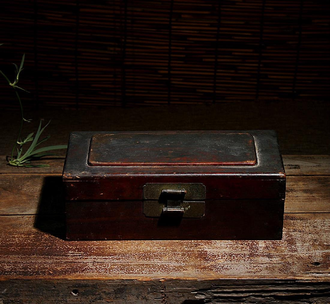 chinese wood lacquered box - 2