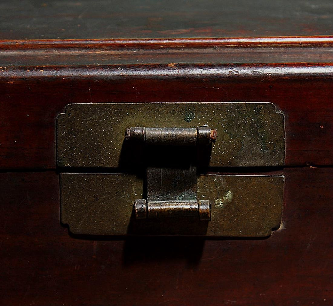 chinese wood lacquered box - 3