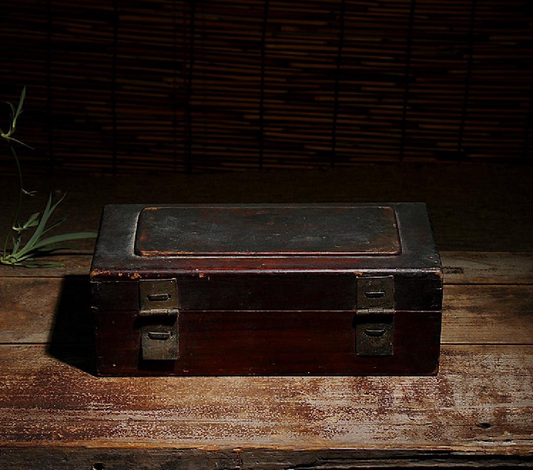 chinese wood lacquered box - 6