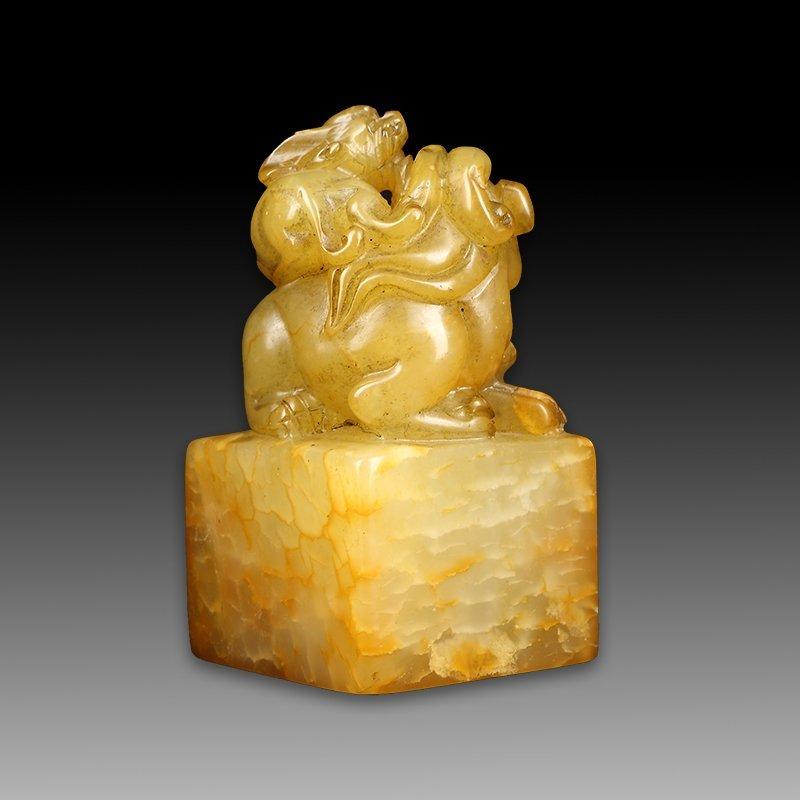 Chinese Shoushan Stone Seal Chop - 4