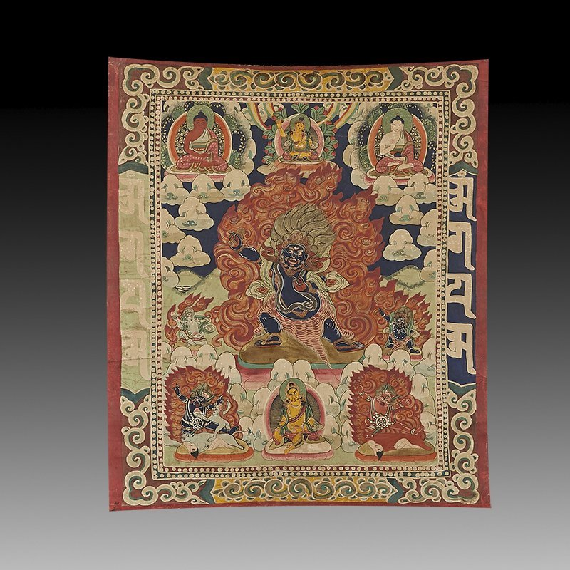 Antique Tibetan Hand Painted Thangka