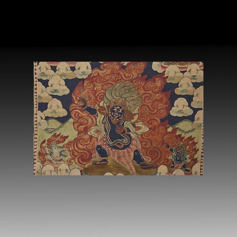 Antique Tibetan Hand Painted Thangka - 3