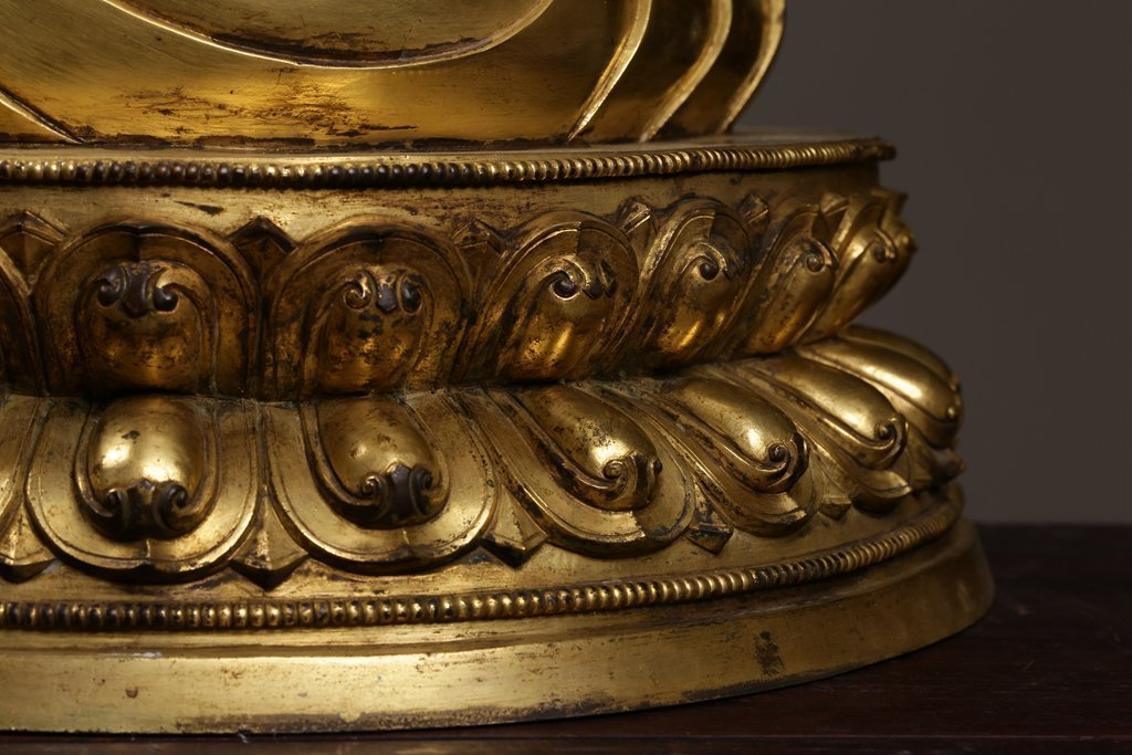 Chinese Qing Dynasty Gilt  Bronze Buddha Figure - 4