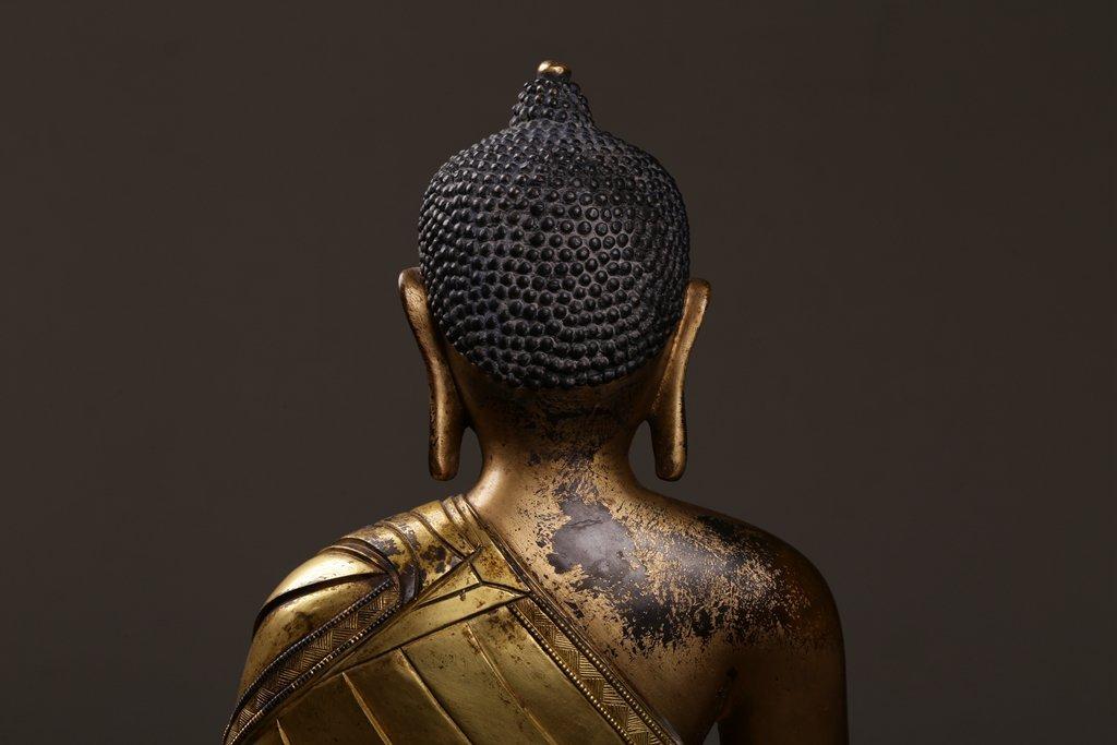 Chinese Qing Dynasty Gilt  Bronze Buddha Figure - 7