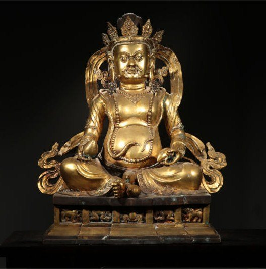 Chinese Qing Dynasty Gilt  Bronze Buddha Figure