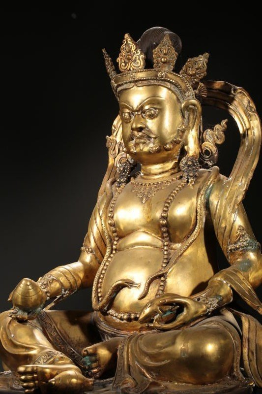 Chinese Qing Dynasty Gilt  Bronze Buddha Figure - 3