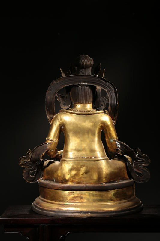 Chinese Qing Dynasty Gilt  Bronze Buddha Figure - 6