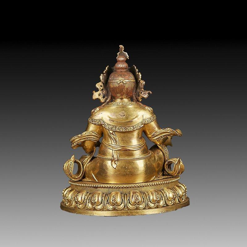 Chinese Ming Dynasty Gilt Bronze Buddha Figure - 4