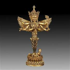 Chinese Ming Dynasty Gilt  Bronze Buddha Figure