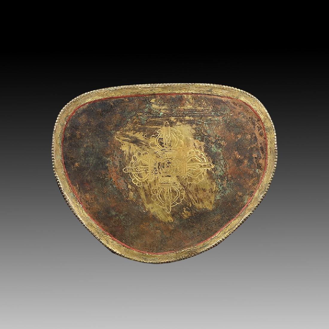 Large Chinese Qing Dynasty Gilt Bronze Shakyamuni - 6